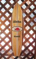 Hama Kena オリジナルウッドサイン ♯0001 Aloha Hawaii レッドハイビスカス