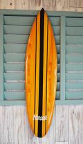 ウッドサイン サーフボードの壁掛け XL HAWAII センターブラック・サイドイエロー