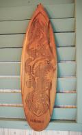 ウッドサイン サーフボードの壁掛け ドルフィンレリーフ ナチュラル