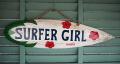 ウッドサイン SURFER GIRL HAWAII ハイビスカス