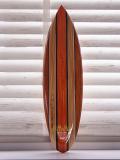 サーフボード型ウッドサインM HAWAII ブラウンライン