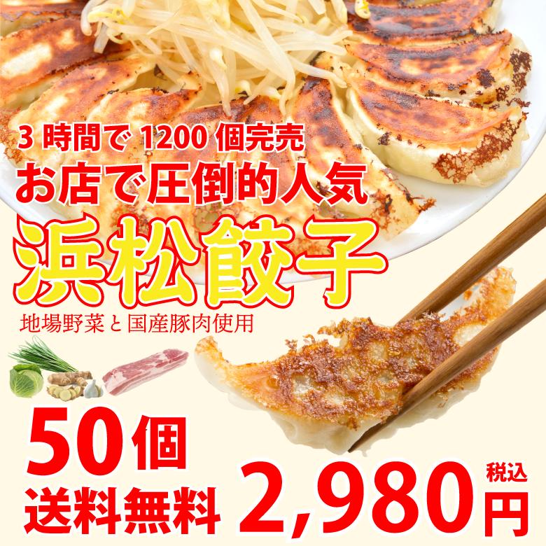 浜松餃子50個【生冷凍】【送料無料】