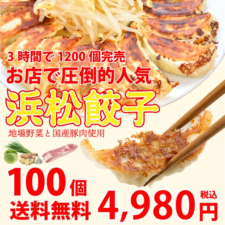 浜松餃子100個1個あたり49.8円【生冷凍】【送料無料】