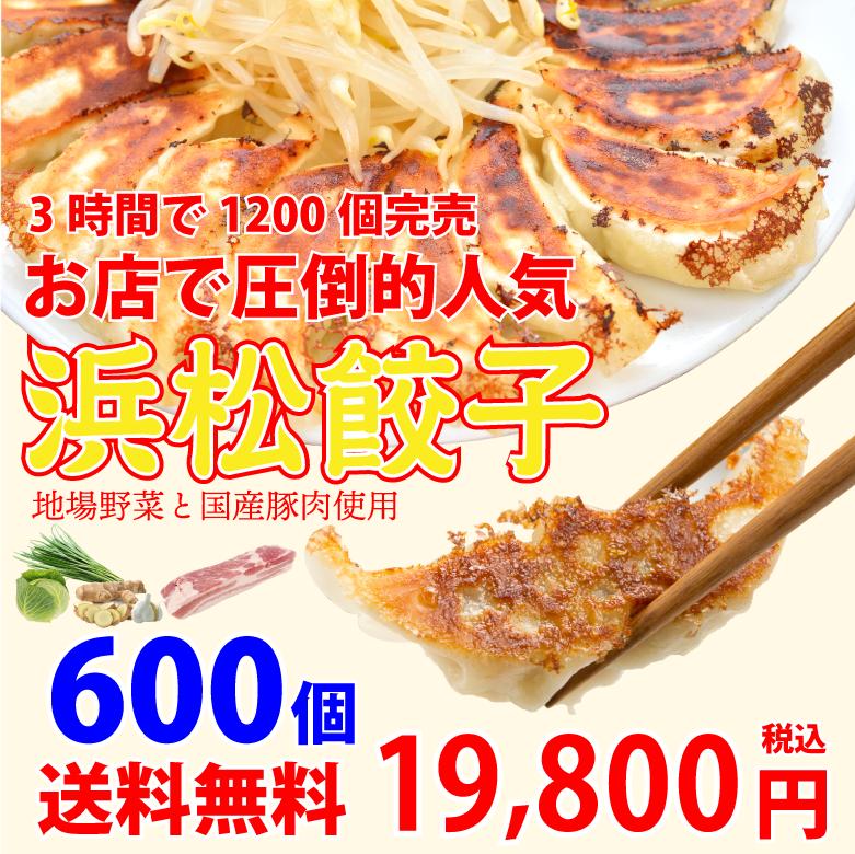 浜松餃子600個1個あたり33円【生冷凍】【送料無料】