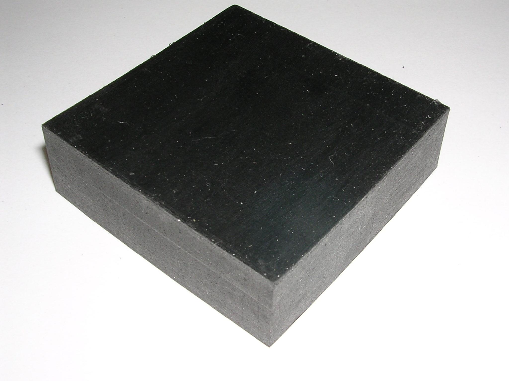 ゴム板カット ゴムシート切り板 天然ゴム(NR)加工品 30mm×50mm角 ゴムブロック