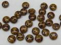 チェコビーズ レンティル(レンズ豆) 2ホール 6ミリ オペークベージピカソ