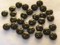チェコビーズ レンティル(レンズ豆) 2ホール 6ミリ チョコレートブラウン
