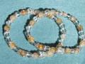 天然石ブレスレット 内径16cmタイプ ルチルクォーツ(6ミリ・12玉) クリスタル(8ミリ・2玉) カットクリスタル(6ミリ・12玉) 他