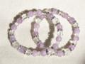 天然石ブレスレット 内径16~16.5cmタイプ ラベンダーアメジスト クリスタル カットクリスタル