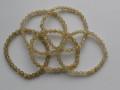 天然石ブレスレット 内径(手首)16.5~17cmタイプ ゴールドルチル6ミリ玉(5.5~6.5㎜)