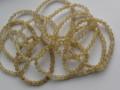天然石ブレスレット 内径(手首)17.5~18cmタイプ ゴールドルチル6ミリ玉(5.5~6.5㎜)