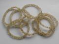 天然石ブレスレット 内径(手首)16.5~17cmタイプ ゴールドルチル7ミリ玉(6.5~7.5㎜)