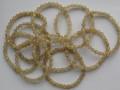 天然石ブレスレット 内径(手首)17.5~18cmタイプ ゴールドルチル7ミリ玉(6.5~7.5㎜)
