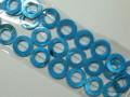 シェルパーツ 15ミリ 丸形・リング ブルー (スプレー塗装)