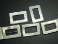 シェルパーツ 30×20ミリ 長方形・リング (2個入) ナチュラルカラー