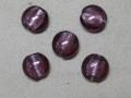 ベネチアン風ガラス 丸平タイプ 約15mm 紫色