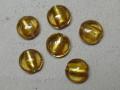 ベネチアン風ガラス 丸平タイプ 約15mm 黄色