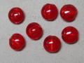 ベネチアン風ガラス 丸平タイプ 約15mm 赤色