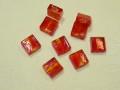 ベネチアン風ガラス 正方形 約10×5mm 赤色