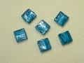 ベネチアン風ガラス 正方形 約10×5mm 青色
