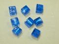 ベネチアン風ガラス キューブ 約10×10mm 青色