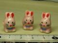 陶器ビーズ 干支 約14×20mm ウサギ �
