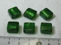 ベネチアン風ガラス 正方形 約12×5mm グリーン