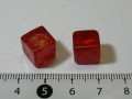 ベネチアン風ガラス キューブ 約10×10mm 赤色