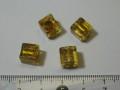 ベネチアン風ガラス キューブ 約8×8mm 黄色