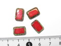 チェコビーズ レクタングル 12×8ミリ オペークルビーピカソ