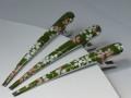 クリップ型和柄髪留め 130� 桜 (緑地) B