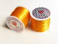 のびるテグス(ブレスレット用) 0.8ミリ (50M巻) オレンジ