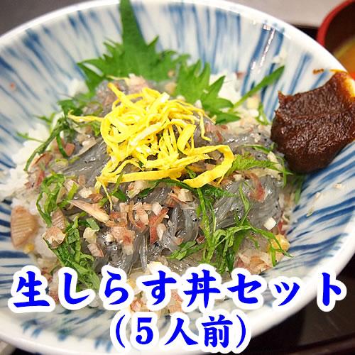 NS-5 生しらす丼セット(5人前)[冷凍]