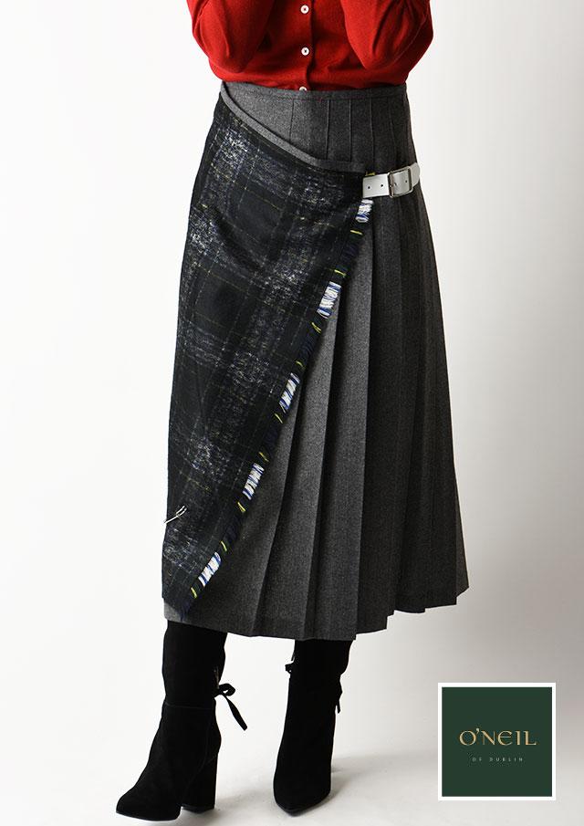 ◇◆ONeil_of_Dublin|オニール・オブ・ダブリン|キルトアシンメトリースカート【12181】【26】