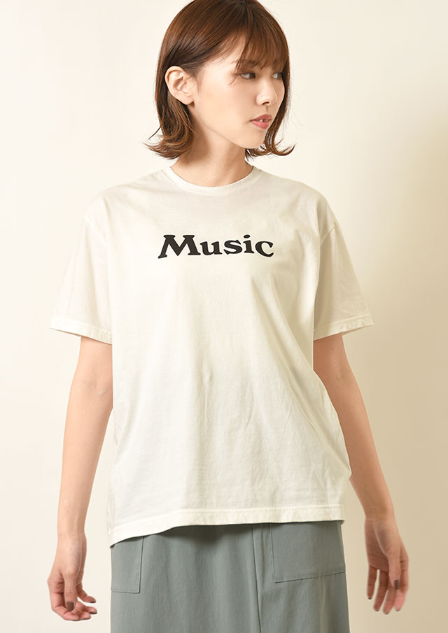 ◆MUSIC_ロゴTシャツ【212FT02-R】【26】