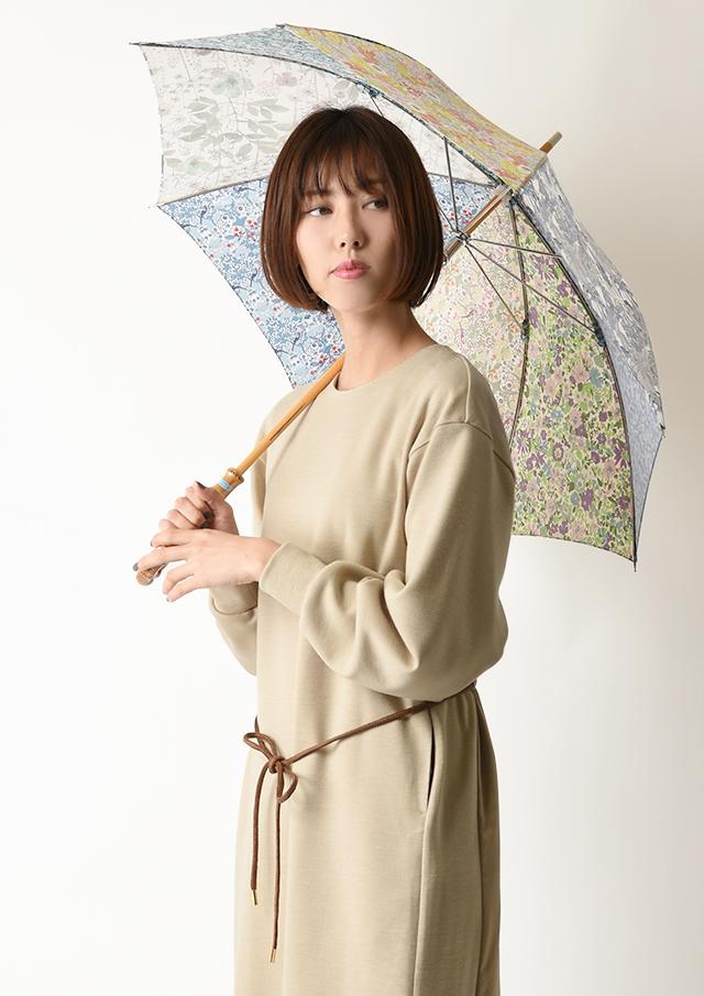 ◆リバティプリントパッチワーク長傘【51080】【27】