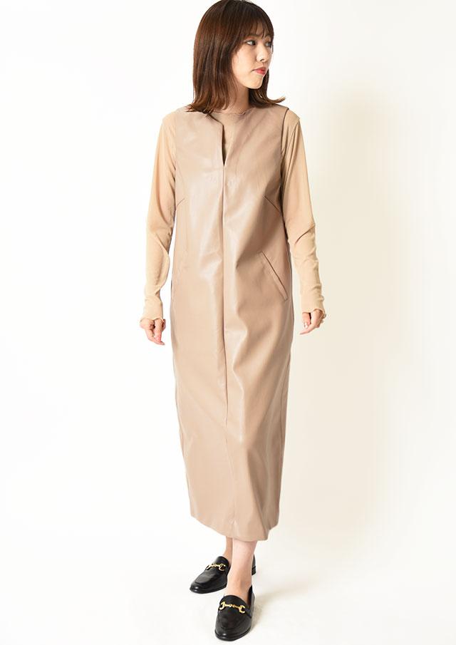 ◆フェイクレザージャンパースカート【6215-596】【26】