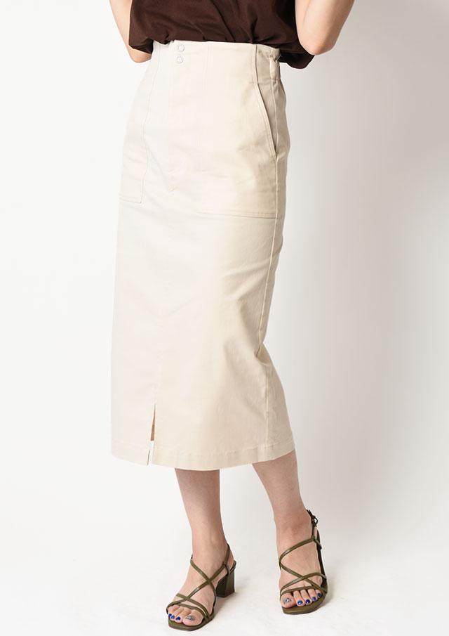 ◆デニムIラインタイトスカート【H2119045】【80】