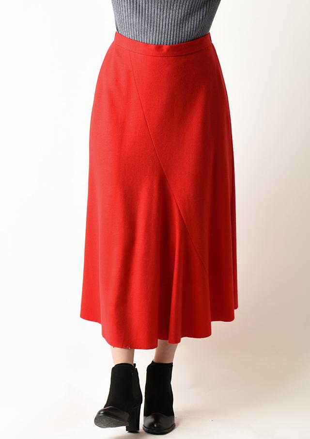 ◆ウールスムース切替マーメイドスカート【H6390】【26】