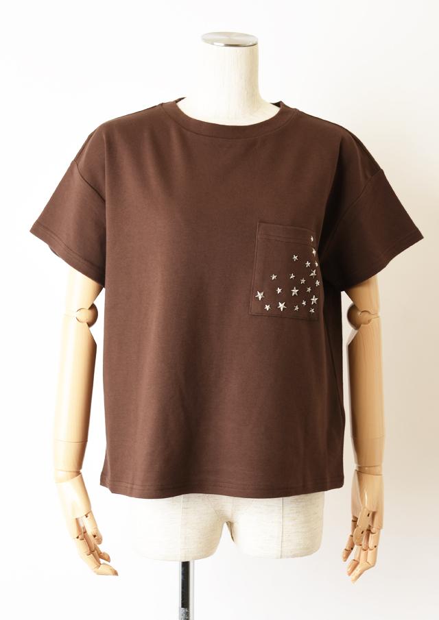 【2020】スタースタッズポケットTシャツ【H7021002】【27】