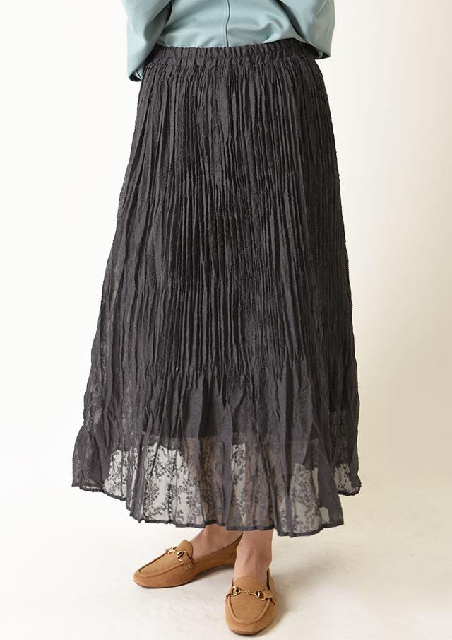 ◆スノードビーシフォンプリーツスカート【H8311600】【26】