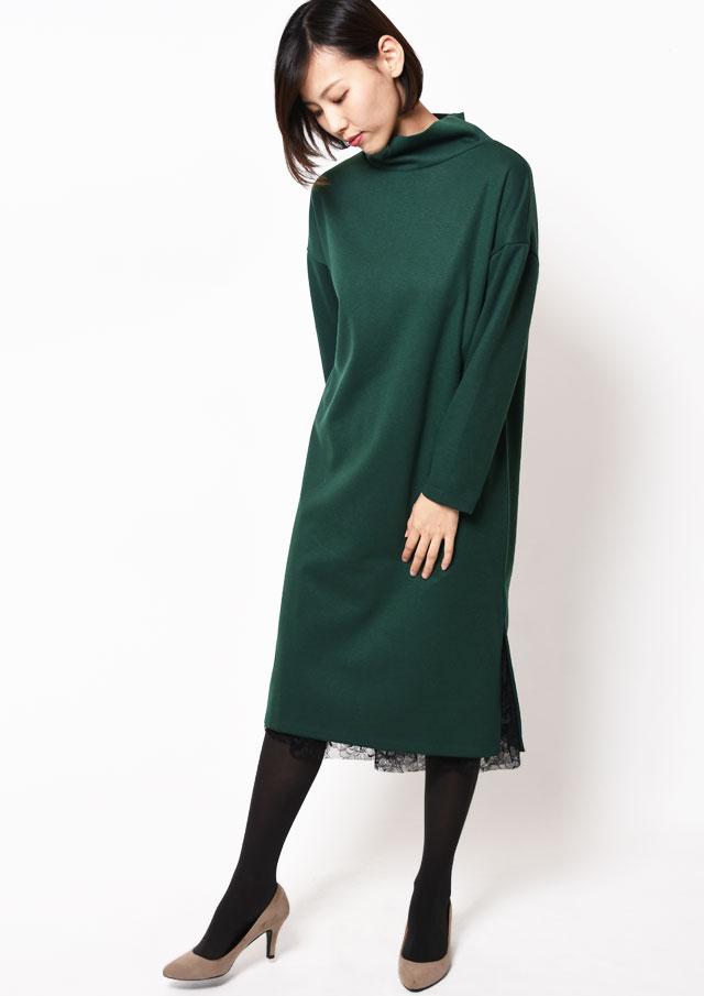 SALE!!【2018】ポンチハイネックワンピース&チュールスカート【HB028504】