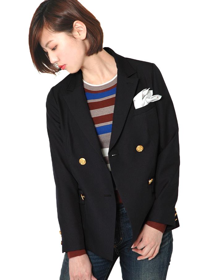 ◇◆ポリエステルリノンテーラーダブルスカーフ付きジャケット【HB047001】【27】