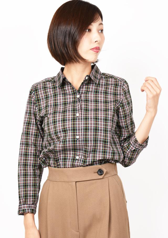 【2019】リバティチェックレギュラーシャツ【HB059503C】【26】