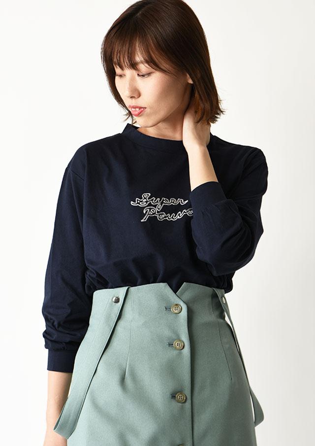 ◇◆32天竺ロゴ刺繍ロングTシャツ【HB071000】【26】