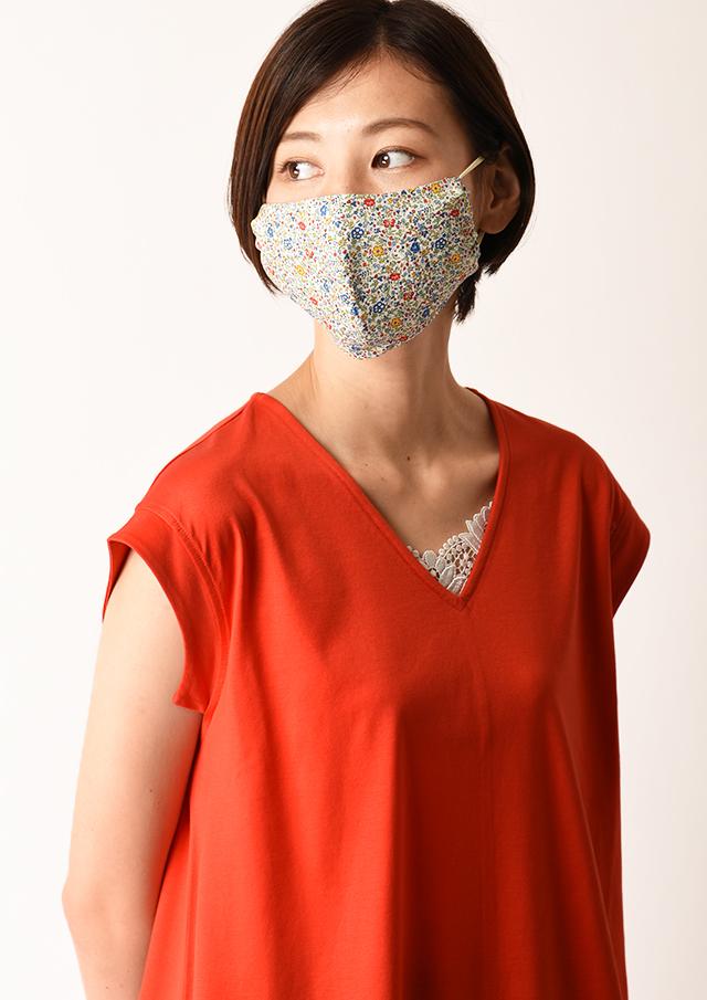 【2020】マスクケース付きリバティプリントマスク【HB100500A】【26】【返品不可】