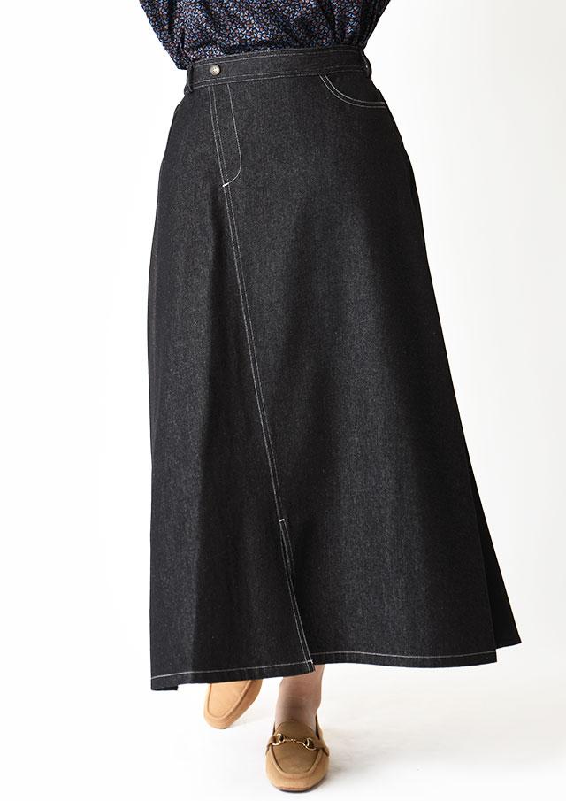 ◆フレッシュデニムコンビスカート【HF-850】【61】