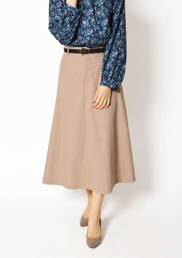 【2019】ベルト付きセミフレアスカート【HI8191】【26】