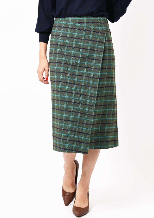 【2019】ツイード調MIXカラーセミタイトスカート【HI8500】【26】