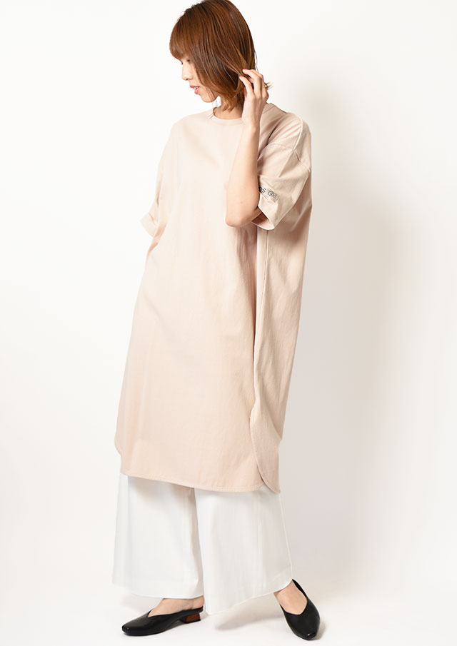 ◇◆コットンスムースロゴチュニックTシャツ【HJ118752M】【61】